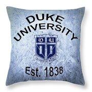 Duke University Est 1838 Throw Pillow