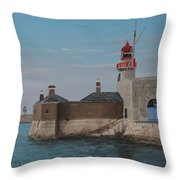 Dun Laoghaire Lighthouse Throw Pillow