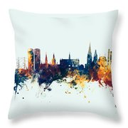 Dundee Scotland Skyline Throw Pillow