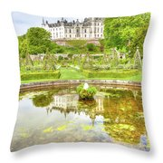 Dunrobin Castle Reflected Throw Pillow