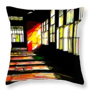 Dusk At The Factory Throw Pillow