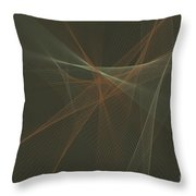 Dust Computer Graphic Line Pattern Throw Pillow