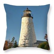 Dyce Head Lighthouse Throw Pillow