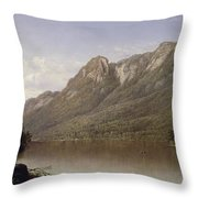 Eagle Cliff At Franconia Notch In New Hampshire Throw Pillow