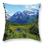 Eagle River- Alaska Throw Pillow