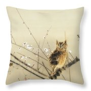 Early Plum Blossoms Throw Pillow