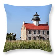 East Point Lighthouse Throw Pillow