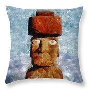 Easter Island Throw Pillow
