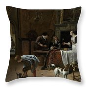 Easy Come, Easy Go Throw Pillow