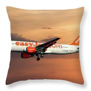 Easyjet Airbus A320-214 Throw Pillow