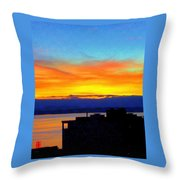Edgewater Sunset Throw Pillow