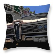 Edsel On Route 66 Throw Pillow