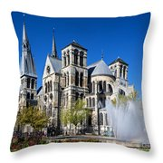 Eglise Notre - Dame En Vaux Throw Pillow