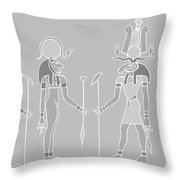 Egyptian Gods And Goddess Throw Pillow