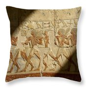 Egyptian Relief Throw Pillow