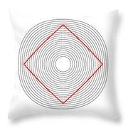 Ehrenstein Illusion Throw Pillow