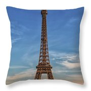 Eiffel Tower In France Throw Pillow