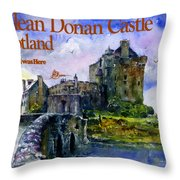 Eilean Donan Castle Scotland Throw Pillow