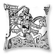 El Cid Campeador (c1040-1099) Throw Pillow