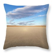 El Mirage Dry Lake Mojave  Throw Pillow