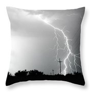 Electricity Vs Electricity-signed Throw Pillow