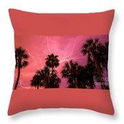 Electrified Palms Throw Pillow