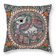 Elephants 1a Throw Pillow