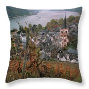 Elevated View Of Bacharach Throw Pillow