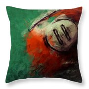 Eleven Ball Billiards Abstract Throw Pillow