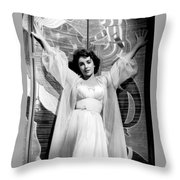 Elizabeth Taylor Diamond Are Forever With Her Collectin Throw Pillow