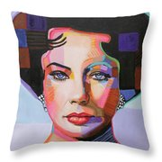 Elizabeth Taylor Throw Pillow
