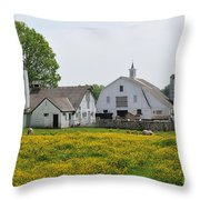 Elm Grove Farm Throw Pillow