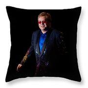 Elton John Throw Pillow by Chris Cousins