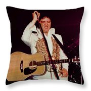 Elvis In Concert Throw Pillow