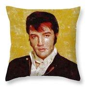 Elvis Presley Y Mb Throw Pillow