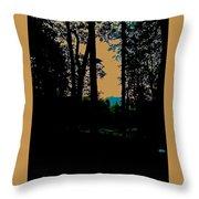 Emerald Mountain Throw Pillow