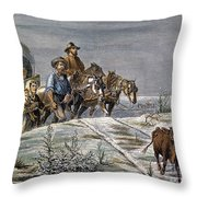 Emigrants, 1874 Throw Pillow by Granger