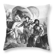 Emigrants To West, 1874 Throw Pillow
