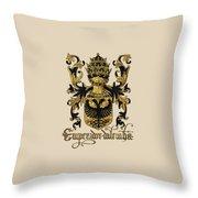 Emperor Of Germany Coat Of Arms - Livro Do Armeiro-mor Throw Pillow