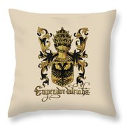 Emperor Of Germany Coat Of Arms - Livro Do Armeiro-mor Throw Pillow