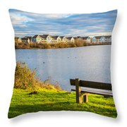 Empty Bench Throw Pillow