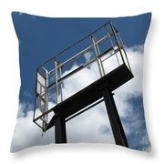 Empty Sign Frame Throw Pillow