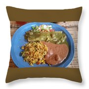 Enchilada Entree'  Throw Pillow