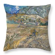 Enclosed Wheat Field With Peasant Throw Pillow