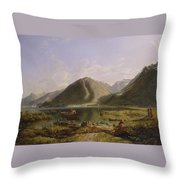 End Of Lake Geneva Throw Pillow