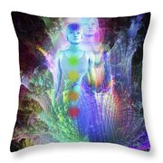 Formation Of Woman Throw Pillow