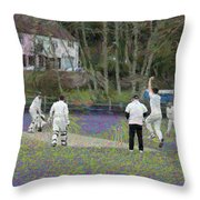 England Club Cricket Throw Pillow