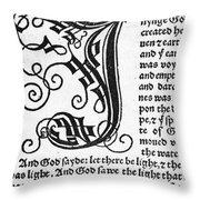 English Bible, 1535 Throw Pillow
