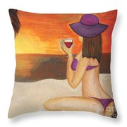 Enjoy The Beach Throw Pillow