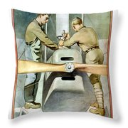 Mechanical Training - Enlist In The Air Service Throw Pillow